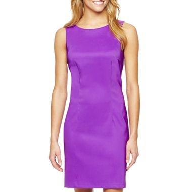 Kasper Petite Solid Sleeveless Sheath Dress & Reviews