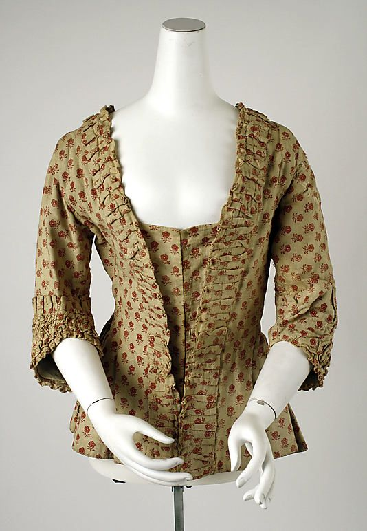 Caraco Date: 18th century Culture: Belgian Medium: cotton