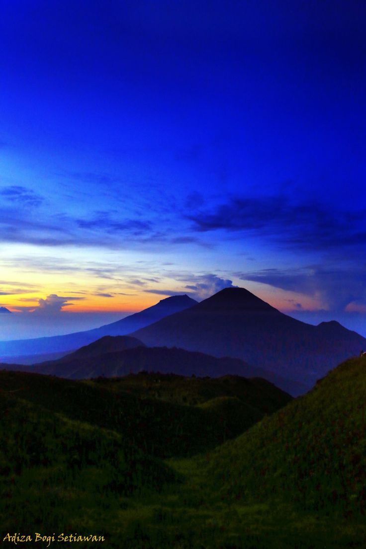 Sunrise of Mount Prau, Dieng, Wonosobo, Central of Java, Indonesia.