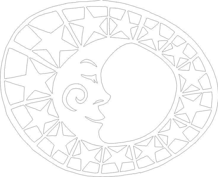 měsíc - šablona