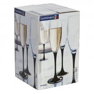 Набор фужеров для шампанского ДОМИНО 4шт 170мл Luminarc