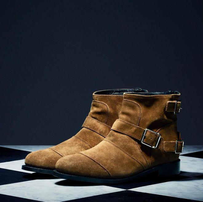 Balmain x H&M booties.