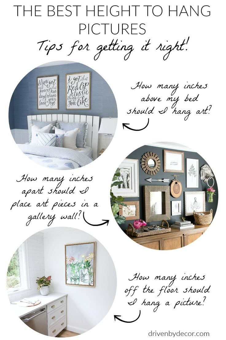 How High To Hang Pictures Simple Tips For Getting It Right Driven By Decor Picture Hanging Height Hanging Pictures Hanging Pictures On The Wall