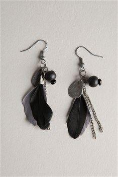 Boucles d'oreilles plumes - Bonobo
