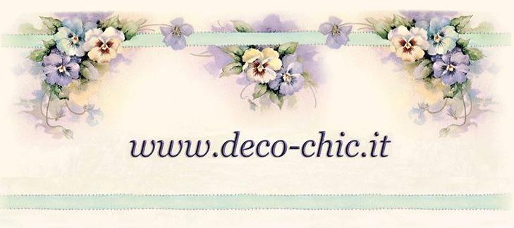 Sei un PRIVATO e non hai un nostro rivenditore vicino? Ordina TUTTI i Nostri prodotti su www.deco-chic.it, arriveranno direttamente a casa tua. Spedizioni entro 48 h lavorative (escluso sabato e domenica)
