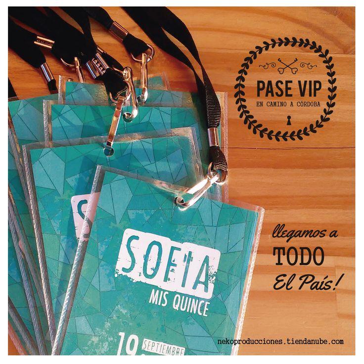 invitaciones PASE VIP * super originlaes!