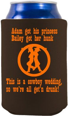 Personal Koozies For Wedding Drink Are A Greate Favor Idea