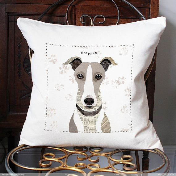 Whippet personalised Cushion Cover