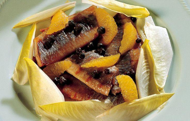 Aringa, arancia e capperi