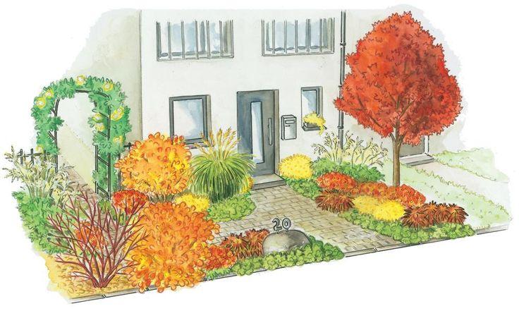 """Im Herbst zeigt sich die Natur noch einmal von ihrer schönen Seite, oder, um den französischen Philosoph Albert Camus zu zitieren: """"Der Herbst ist ein zweiter Frühling, wo jedes Blatt zur Blüte wird"""". Wir zeigen Ihnen, wie Sie Ihren Vorgarten gestalten können, um den Herbst in seiner bunten Pracht richtig zu genießen."""