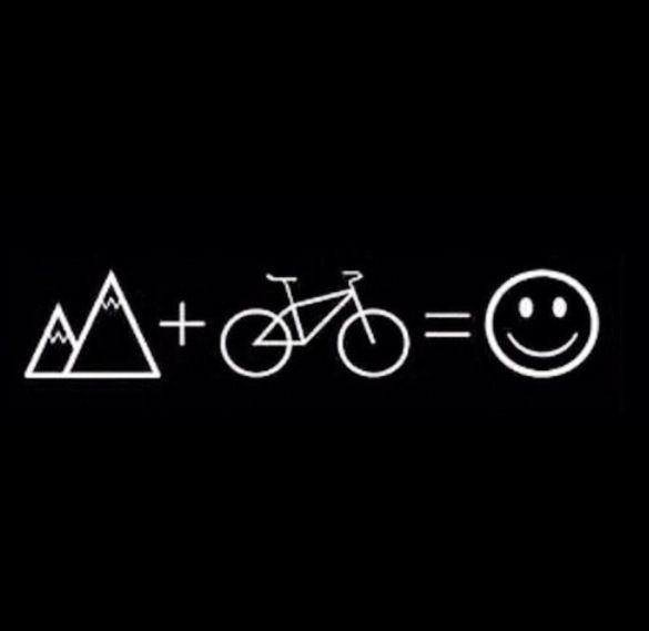 Moutain + bike =