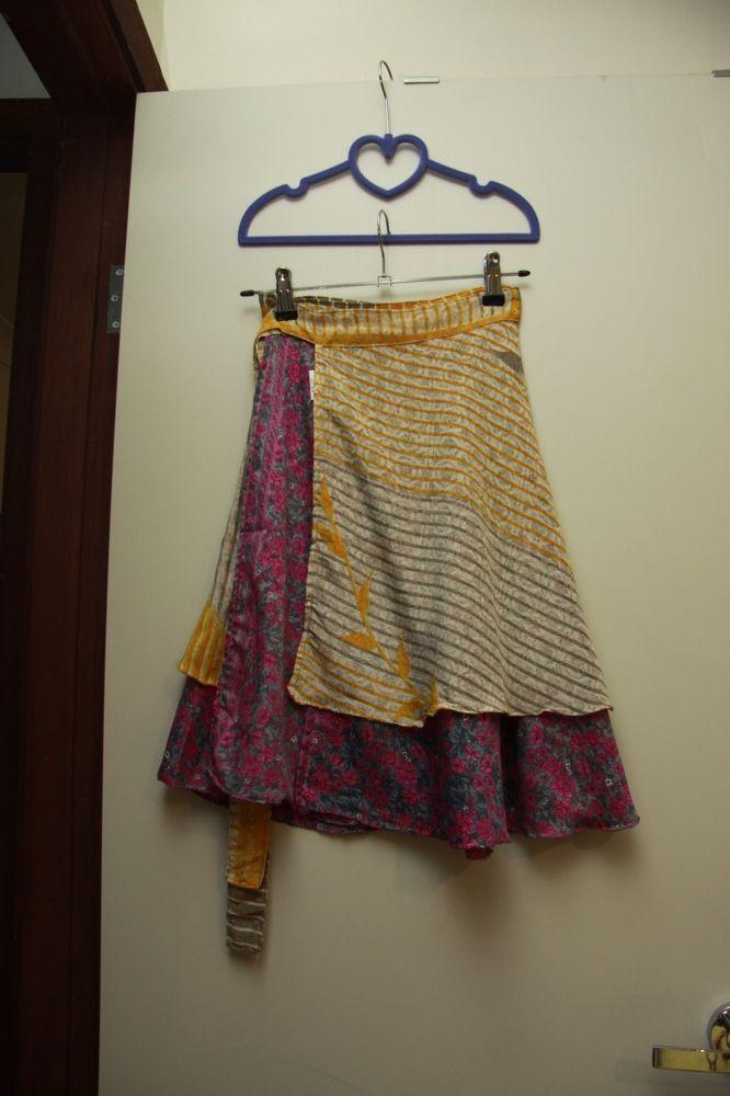 Women S Tree Of Life Skirt Wrap Around Silk Size 8 10