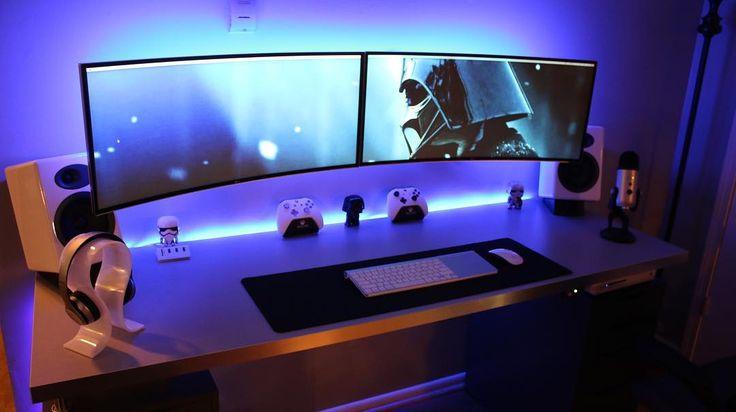 """My Dual 34"""" Ultrawide Curved Monitors setup all run by my late 2012 Mac Mini!"""