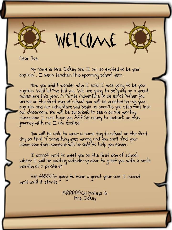 The 25 best student welcome letters ideas on pinterest classroom welcome letter for new teacher this is a sample of the letter that i spiritdancerdesigns Image collections
