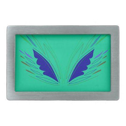 Design wings eco Green Belt Buckle - accessories accessory gift idea stylish unique custom