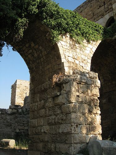 Arches at Crusader castle, Byblos, Lebanon, Sep 2011