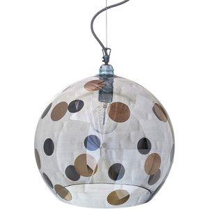 Ebb & Flow Rowan Pendant Lamp - Platinum Dots - 39cm