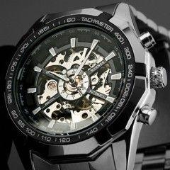 WINNER Luxusní pánské skeleton automatické sportovní hodinky WINNER automatyPošta Zdarma