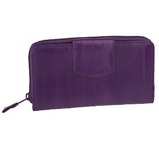 Lee Sands Ladies Eelskin Clutch Wallet - QVC.com ...
