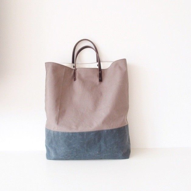 Handmade Bag/Tote Waxed via MIKANU. Click on the image to see more!  #waxed #handbag #handmade #handcrafted #Tasche #bag