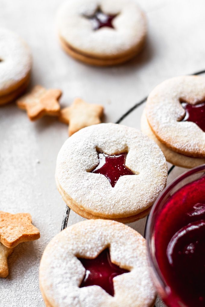 Linzer Cookies with Homemade Raspberry jam – Ana's Baking Chronicles