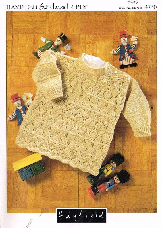Hayfield 4730 toddler jumper vintage knitting by Ellisadine, £1.15