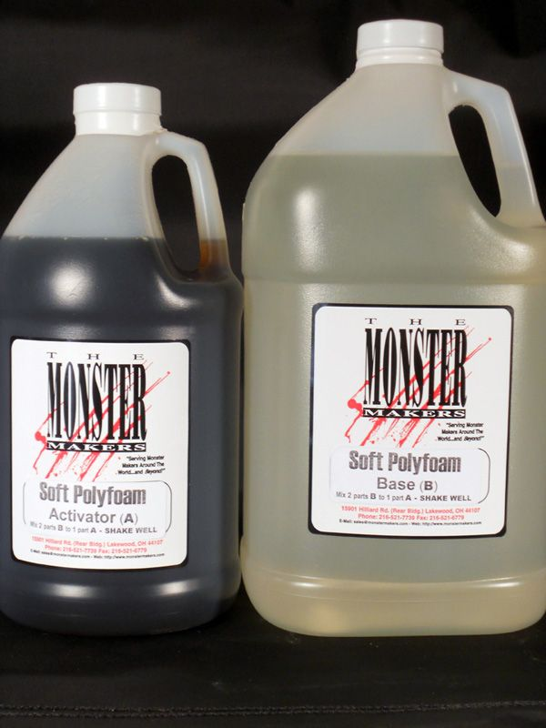 Soft Expanding Polyurethane Foam - 7.5 Gallon Bulk Kit - Soft Expanding Polyfoam - Casting Compounds - Flexible - CASTING AND PAINTING - The Monster Makers