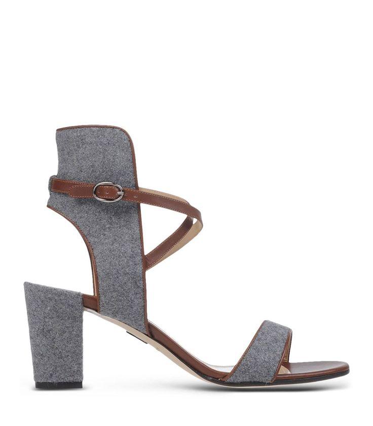 ShopBazaar Paul Andrew Lexington Wool Felt Sandal MAIN
