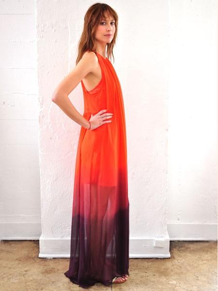 the Awaken Dress. Jill Aiko Yee.: Indigo, Awakening Dresses, Ombre Tangerine, Dresses Silk, Silk Ombre, Products, Tangerine Tuesday