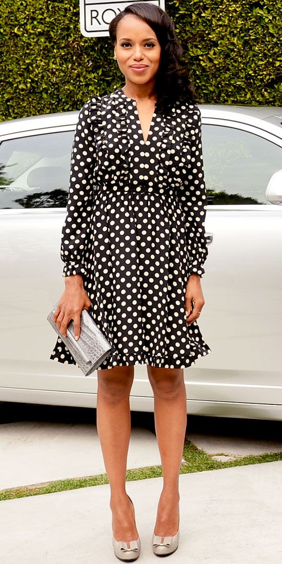 Kerry Washington in Kate Spade New York, Nancy Gonzalez, and Roger Vivier