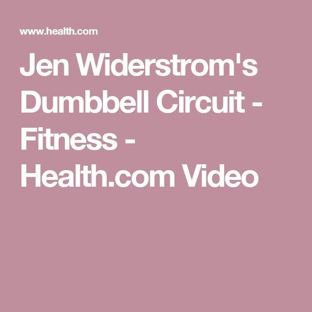 Jen Widerstrom's Dumbbell Circuit - Fitness - Health.com Video