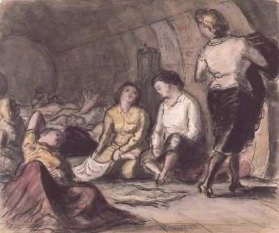 Edward Ardizzone Shelter scene 1940s.