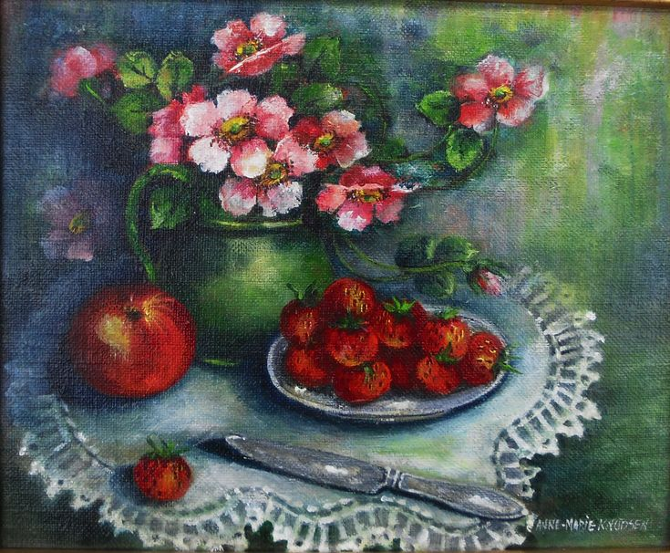 Nyperoser – Acrylic on canvas Original27x22 cm http://www.artofanne-marie.com/florals/