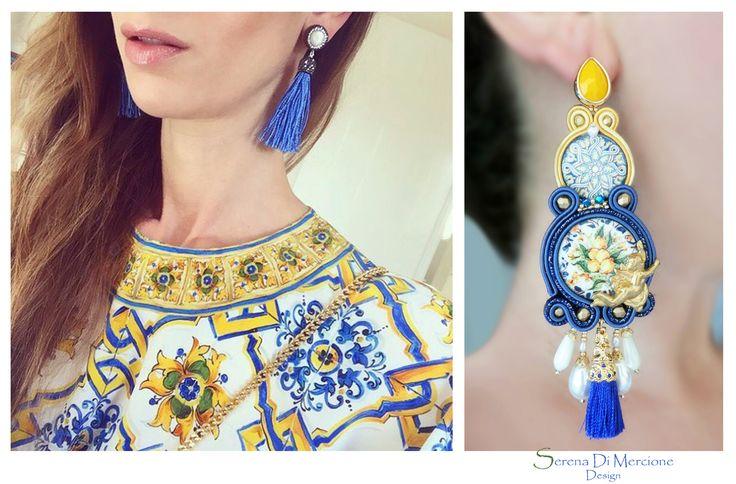 Soutache earrings - sicilian style - D&G inspiration - by Serena Di Mercione