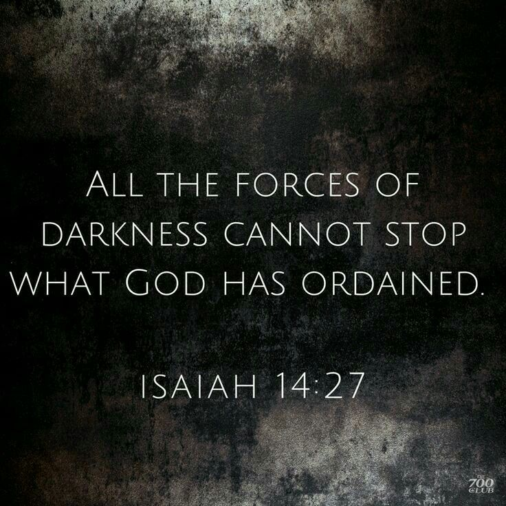 Lol its an impossibility good & evil all constructed by god. It's all meant to happen darkness is apart of existence as much as existence is a part of life