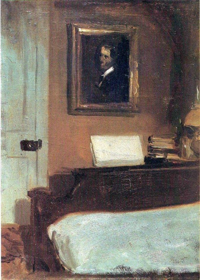 Edward Hopper /  Artist´s bedroom - 1906