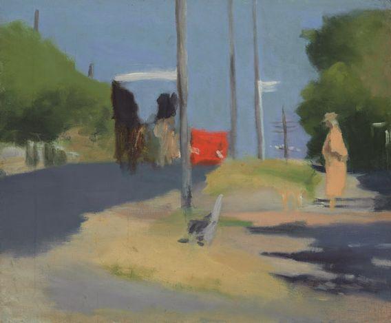 "thunderstruck9: ""Clarice Beckett (Australian, 1887-1935), Bay Road, c.1930. Oil on canvas on cardboard, 49.8 x 60.3 cm. (via National Gallery of Australia) """