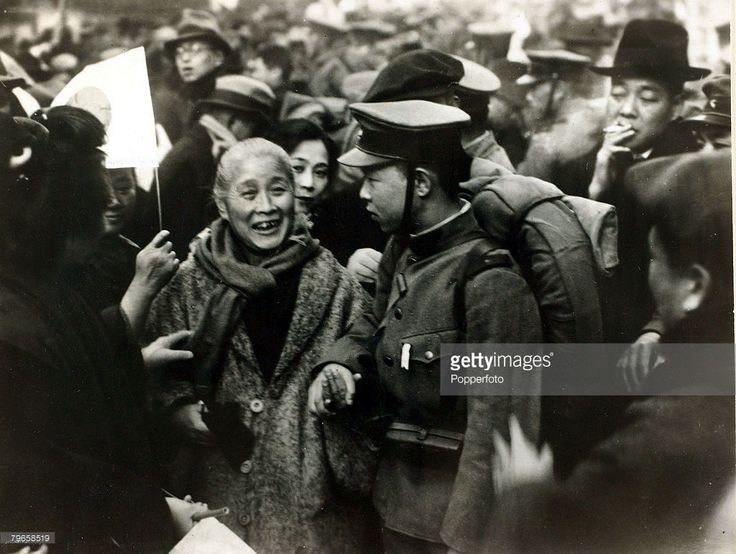 War and Conflict, 2nd Sino-Japanese War, (1937-1945), A Japanese mother says goodbye to her soldier son before he leaves for China, Following the two countries conflict at the end of the 19th century, further hostilities developed after the Manchurian Incident of 1931 when the Japanese Army occupied Manchuria and set up the puppet state of Manchukuo, pressing the Chinese to recognise the independent state of Manchukuo and cease anti-Japanese activities, With the situation deteriorating in…