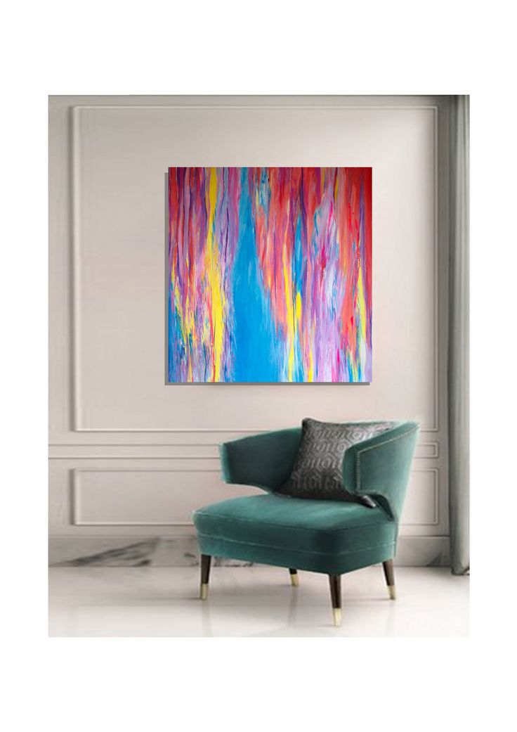 """Aguamenti"" A modern contemporary painting in a classic interior."