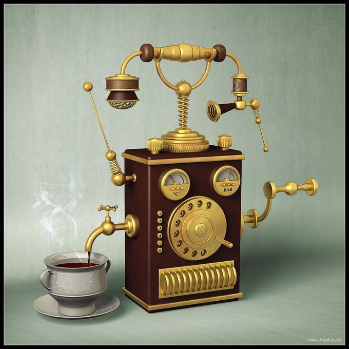 Call & Coffee: Photo by Photographer Pavel Kaplun - photo.net