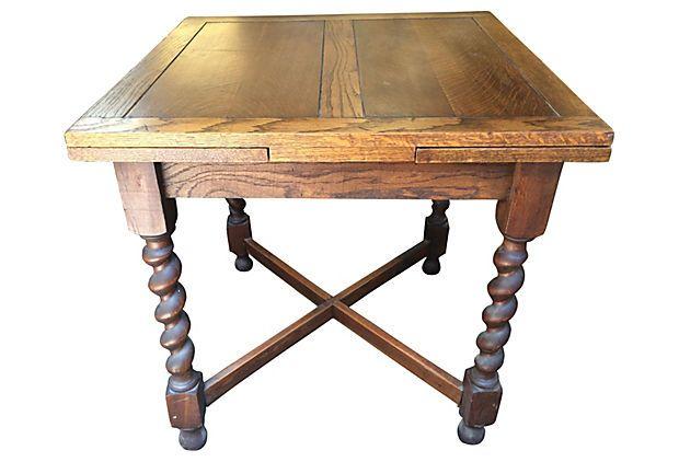 English Oak Expandable Dining Table On Onekingslane Com