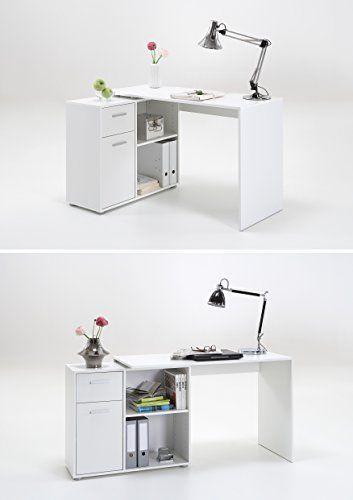 LEXA-Midi Home Office Corner Computer Desk with Storage Shelf Unit *******SEE…