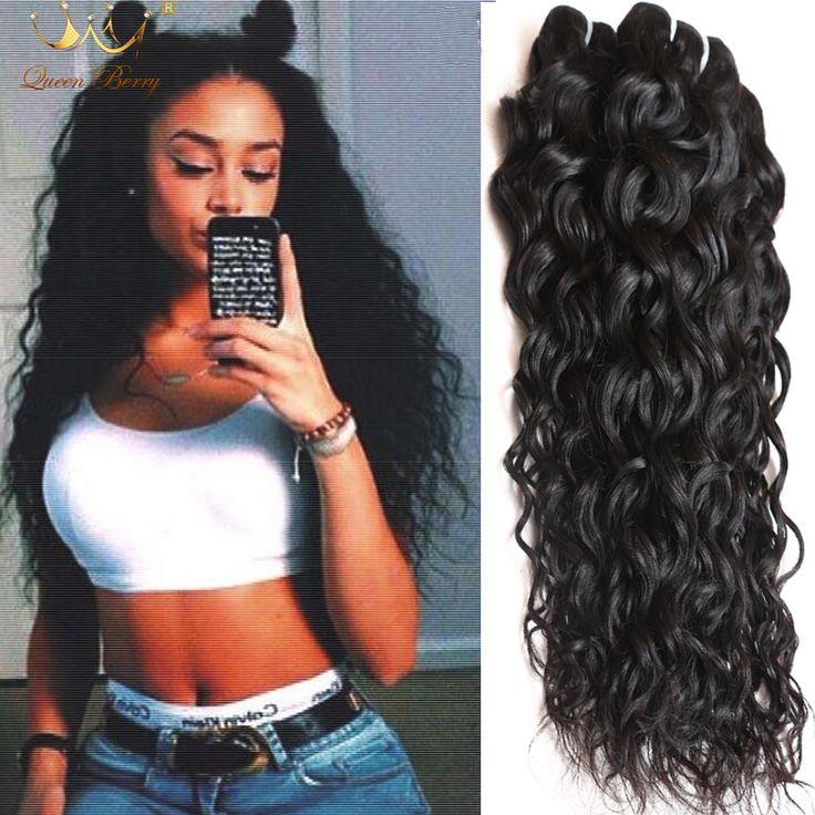 4 Bundles Most Popular Affordable Water Wave Virgin Hair Queen Berry 7a Grade  Mongolian Virgin Human Hair Wet Wavy Curly Hair