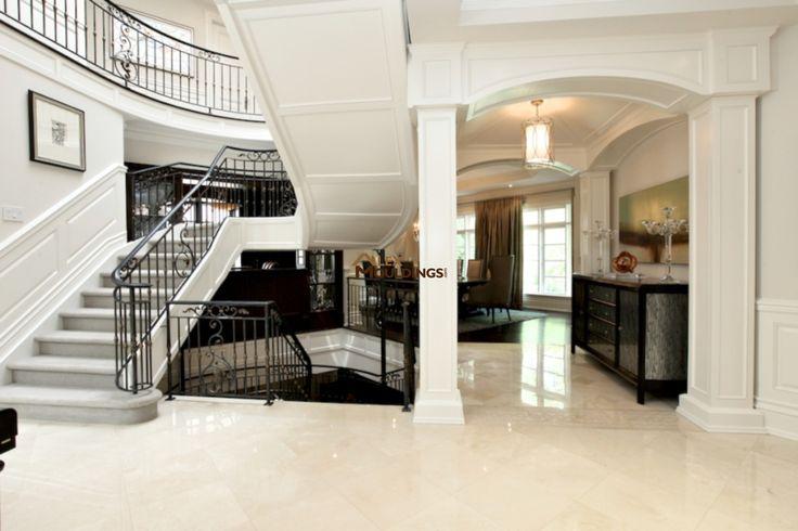 Stairway wainscoting panels