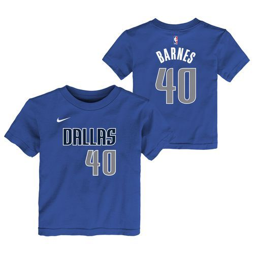 Nike Toddlers' Dallas Mavericks Harrison Barnes 40 Icon T-shirt (Blue, Size 4 Toddler) - Pro Licensed Product, Nba Youth at Academy Sports