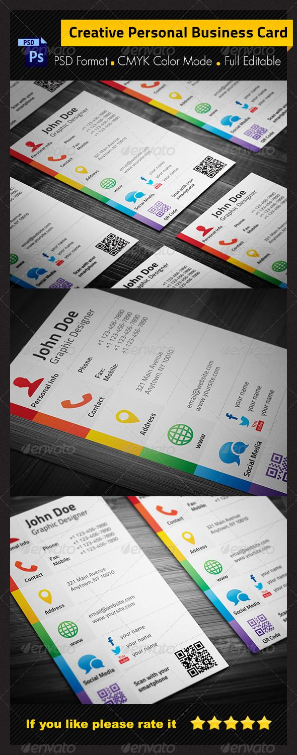 118 best business design images on pinterest business cards colorful corporate business card design graphic design magicingreecefo Images