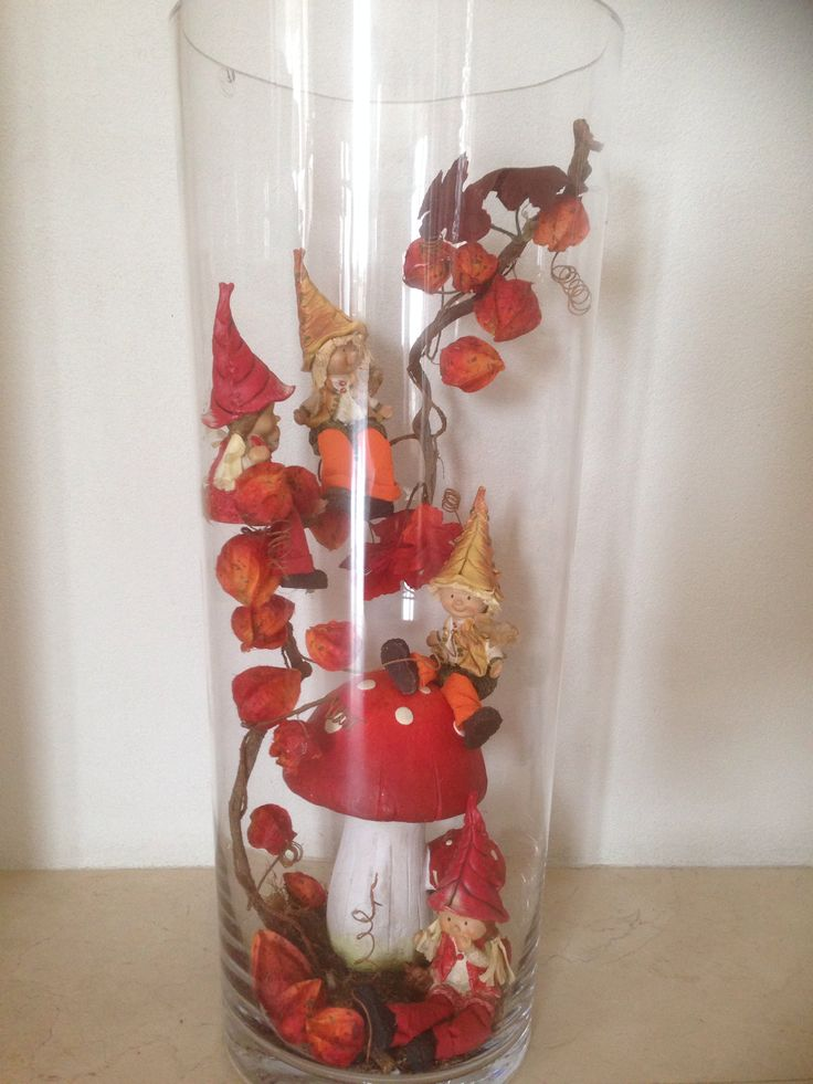 Herfst decoratie grote vaas / autumn decoration grand vase