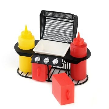 Gas Grill Picnic Condiment Set. I want one of these!