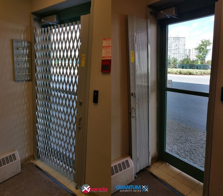 Glass Aluminum man door secured with double diamond Xpanda gate equipped with I/C & 71 best Xpanda Security gate Installations images on Pinterest Pezcame.Com
