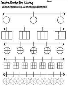 Worksheets Comparing Fractions On A Number Line Worksheet number lines fractions and numbers on pinterest